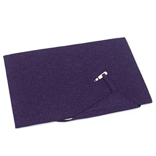 ふくさ(爪付き 金封 袱紗 紫 15696)冠婚葬祭 慶弔両用 ちりめん