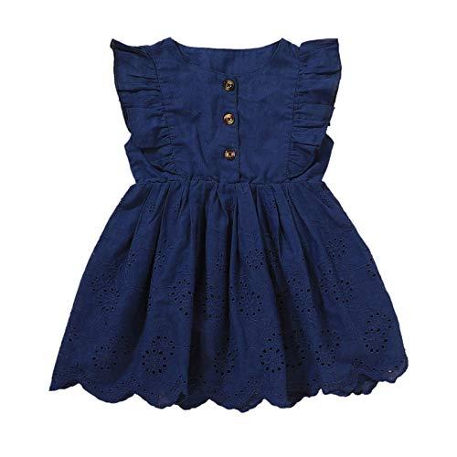 Julhold Vestido de verano para recién nacidos, sin mangas, hueco para niñas