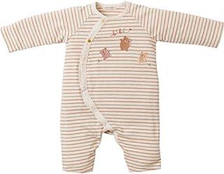 偽役に立つアンタゴニストオーガニックコットン ダンシングベアーのカバーオール 新生児 赤ちゃん ベビー 男の子 くま サイズ 70cm