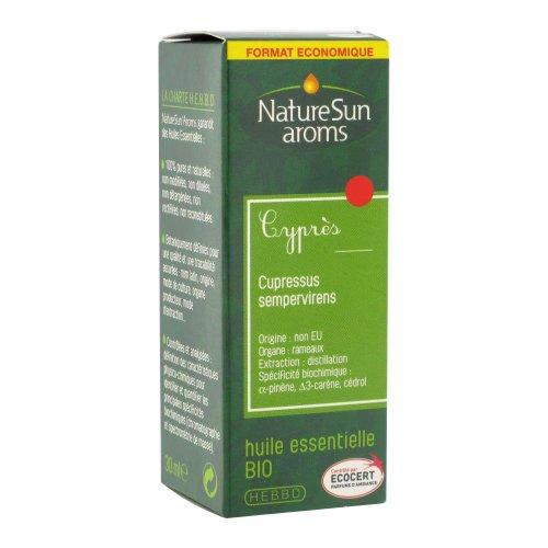 Naturesun aroms - Huile essentielle cypres bio - 30 ml huile essentielle - Tonifie la circulation ve