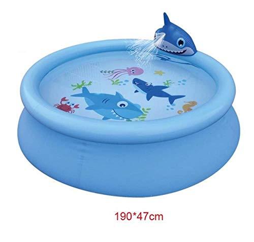 GLLCYL Aufblasbare Pools Kinderpool Gartenpool, Haifisch-Aufblasbarer Pool F