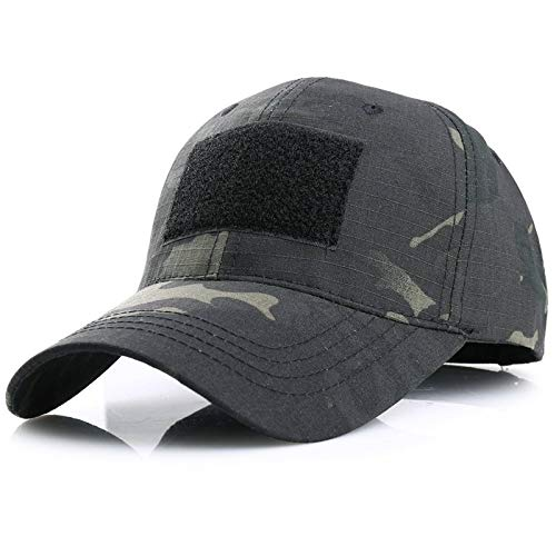 N\C Gorra Deportiva Gorra táctica de Ventilador Militar al Aire Libre Gorra de Montar de Camuflaje Negro Gorra de béisbol de Caza y Senderismo