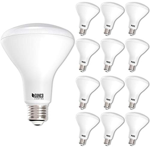 Sunco Lighting 12 Pack BR30 LED Bulb 11W=65W, 5000K Daylight, 850 LM, E26 Base, Dimmable, Indoor Flood Light for Cans - UL & Energy Star