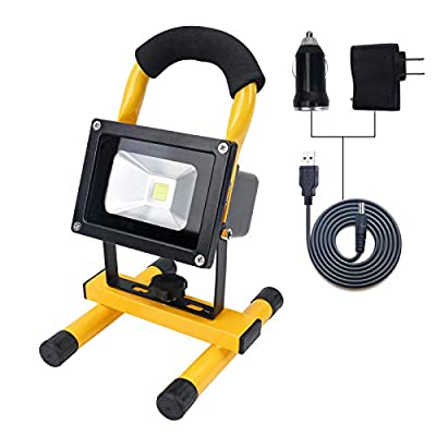 10W COB LED Spotlights Work Lights Outdoor Camping Lighting, Emergency lights, Built-in Rechargeable Lithium Batteries