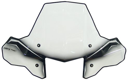PowerMadd 24570 ProTEK Windshield for ATV  - Standard Mount - Clear with black graphics and headlight cut-out