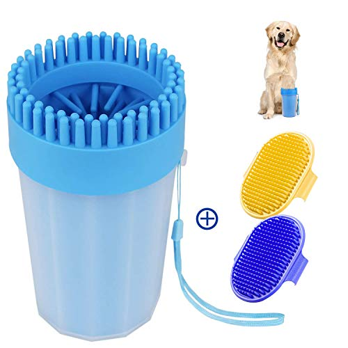 Adenta Paw Washer for Dogs, Portable Pet Feet Cleaner for Medium Dogs, Large-Sized Dog Paw Washer...