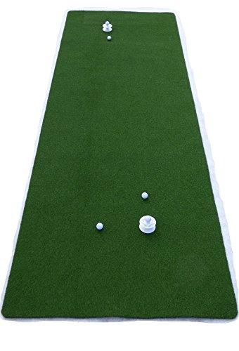 Teaching-Pro Putting Green (4m x 2m) | hochwertiger Kunstrasen aus Polyamid | Putting-Matte für Indoor und Outdoor