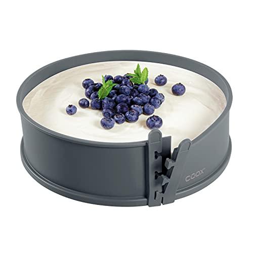 coox Springform mit Porzellanboden ⌀ 26 cm in Grau, backen und direkt auf der Porzellanplatte servieren und schneiden, kein Umsetzen nötig