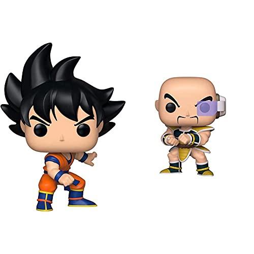 Funko Pop! Vinilo: Dragonball Z S6: Goku + Pop! Vinilo: Dragonball Z S6: Nappa, Multicolor, Estándar