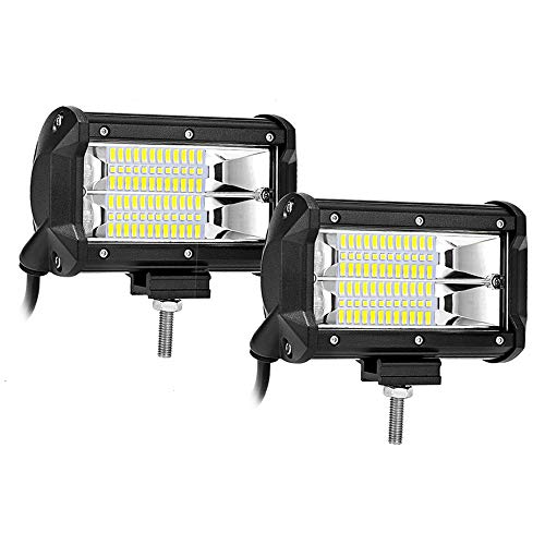 5 inches LED Light Bars 72W Flood Light Pods Off Road Fog Driving Lights Compatible with Trucks Pickup Jeep SUV ATV UTV Marine