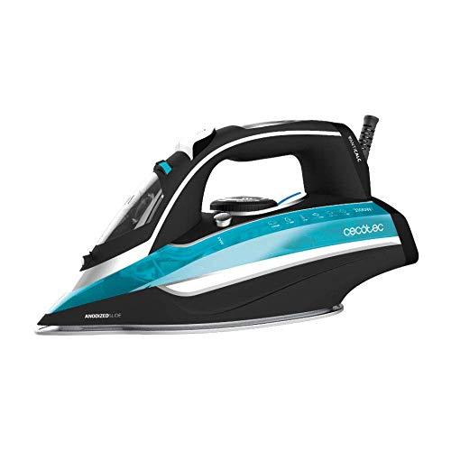 Cecotec Plancha Ropa Vapor 3D ForceAnodized 550. 3100 W. Golpe de Vapor 200 gr/min. Suela Anodizada. Vapor Continuo 55 gr/min. Depósito de 400 ml. Antical. Auto Apagado. Modo Eco. Auto Limpieza.