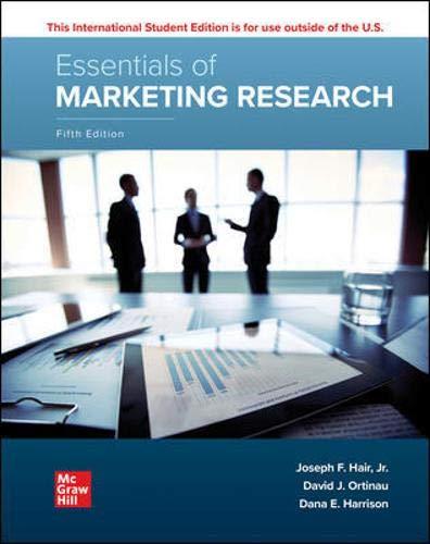 Compare Textbook Prices for Essentials of Marketing Research 5 Edition ISBN 9781260575781 by Hair, Joseph,Ortinau, David,Harrison, Dana E.