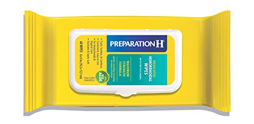Preparation H Flushable Medicated Hemorrhoid Wipes, Maximum Strength Relief with Witch Hazel & Aloe, Pouch (48 Count x 4 Pack, 192 count)