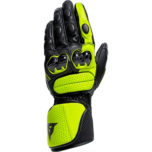 Dainese Motorradhandschuhe lang Motorrad Handschuh Impeto Handschuh schwarz/neongelb XXL, Herren, Sportler, Ganzjährig, Leder