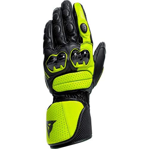 Dainese Motorradhandschuhe lang Motorrad Handschuh Impeto Handschuh schwarz/neongelb L, Herren, Sportler, Ganzjährig, Leder