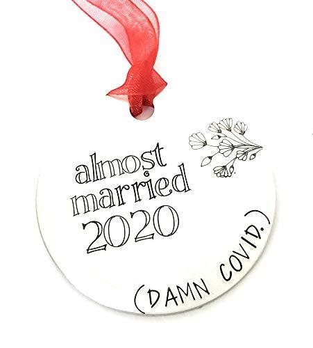Funny Coronavirus Postponed Wedding Ornament Covid 19