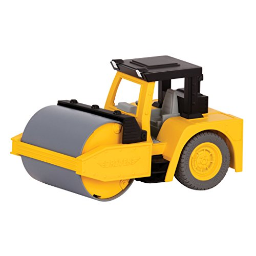 DRIVEN by Battat – Micro Steam Roller – Rugged Toy Steam Roller with Lights and Sounds, for Kids Age 4+