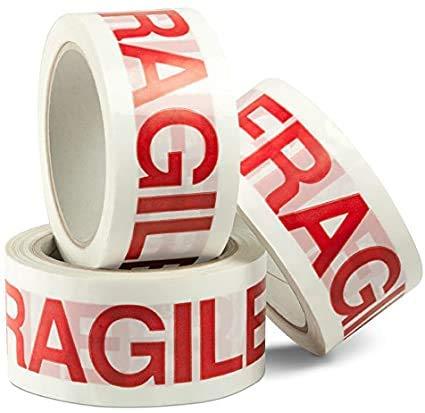 Palucart nastro adesivo fragile 36 pezzi nastro fragile imballo pacchi 50x66 mt per imballaggio