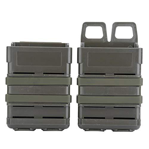 3 Farben ABS Fast Mag Beutelset, Outdoor Essential Magazintasche Molle Strike System Für 5.56 Mags(Grün)