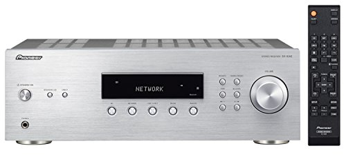 Pioneer SX-10AE(S) Stereo Receiver mit Bluetooth (Direct Energy Design mit 2x 100 W, 4 Line-Inputs, Tape- und Subwoofer-Ausgängen, Lautsprecher A/B, UKW-Radio mit 40 Speicherplätzen), silber