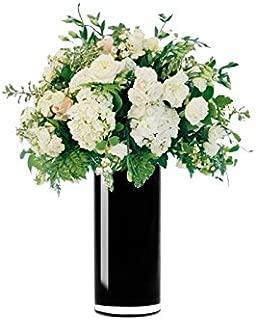 "6 Pieces JenlyFavors Plastic 7 1//2/"" Bud Vase White"