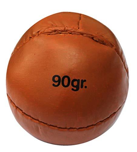 Lisaro Pelota de lanzamiento de piel, 90 g, ideal para juegos juveniles, color marrón, 90 g