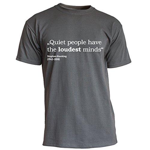 Nukular T-Shirt Quiet People - Stephen Hawking, Farbe Graphit, Größe XL