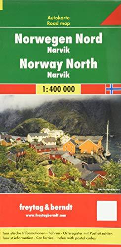 Noruega norte, Narvik, mapa de carreteras. Escala 1:400.000. Freytag & Berndt.: Toeristische wegenkaart 1:400 000: Narvik No. 3 (Auto karte)