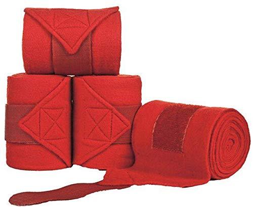 HKM Polarfleecebandagen, rot, 300 cm