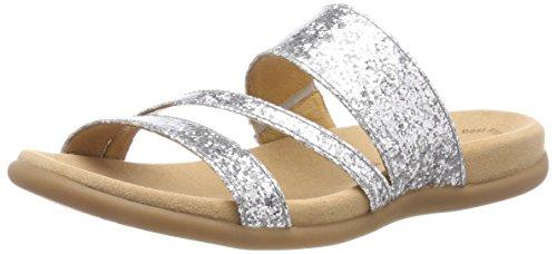 Gabor Shoes Damen Jollys Pantoletten, Mehrfarbig (Silber), 36 EU