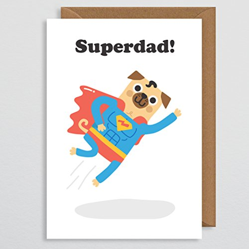 Verjaardagskaart voor papa Grappig - Verjaardagskaart Hond Grappig - Vaderdagkaart - Super Papa - Comedy Vaders Dagkaart - Superheld Vaderdagkaart - Superdad - voor echtgenoot - van vrouw - van zoon