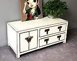 OPIUM OUTLET Asia - Mueble para TV, aparador chino, mueble bajo chino, mueble de televisión, mueble oriental, estilo shabby, color beige