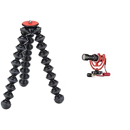 JOBY GorillaPod 3K - Stand de Trípode Flexible Ligero para Cámaras DSLR y CSC/Sin Espejo, Peso hasta 3 kg, JB01510-BWW + Rode Microphones VideoMicro - Micrófono para cámaras DSLR