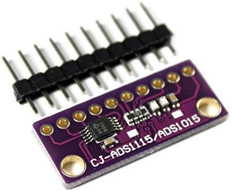 Paradisetronic.com ADS1115 4-Kanal 16-Bit Analog-Digital-Wandler, ADC-Modul, I2C für Arduino, Raspberry Pi, Genuino