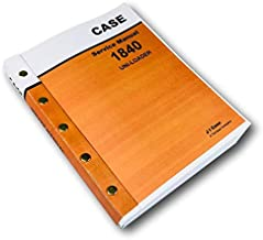 Case 1840 Uni-Loader Skid Steer Service Repair Manual Technical Shop Book Ovhl