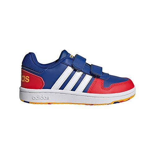 adidas Hoops 2.0 CMF C Basketballschuhe, AZUREA/FTWBLA/ROJINT, 35 EU