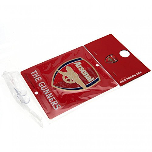Official Arsenal FC Metal Window Sign (14 x 12cm)