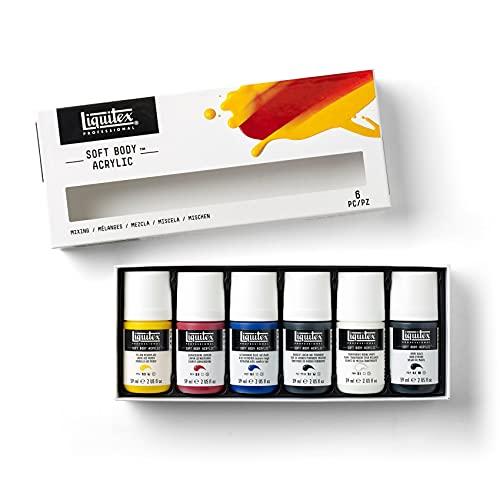 Liquitex 3699320 Professional Soft Body Acrylic Paint, Mixing Set 2-oz, 6 Colors