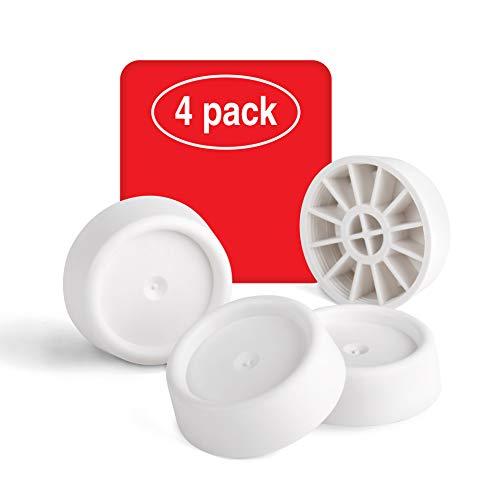 LouMaxx Schwingungsdämpfer Waschmaschine | 4er Set weiß Ø 4,5 cm | Antivibrationsmatte mit anti Rutsch Funktion für alle Waschmaschinen & Trockner