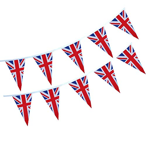HEREB Banderas TemáTicas UK Union Jack Reino Unido Bunting Banner National Royal Decoration