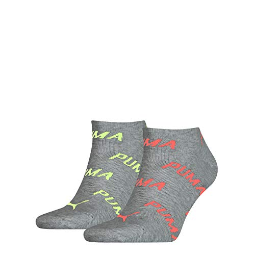 PUMA Unisex-Adult BWT Sneaker-Trainer (2 Pack) Socks, neon pink, 39/42