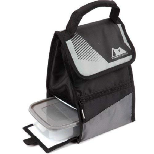 Hi-top Power Pack Lunch Bag, Black Arctic Zone Lunch Bag Has a Padded Handle by Arctic Zone