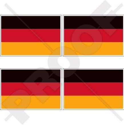 Stickers x4 Allemagne Allemand drapeau State Deutschland 5,1/cm bumper-helmet en vinyle autocollants 50/mm