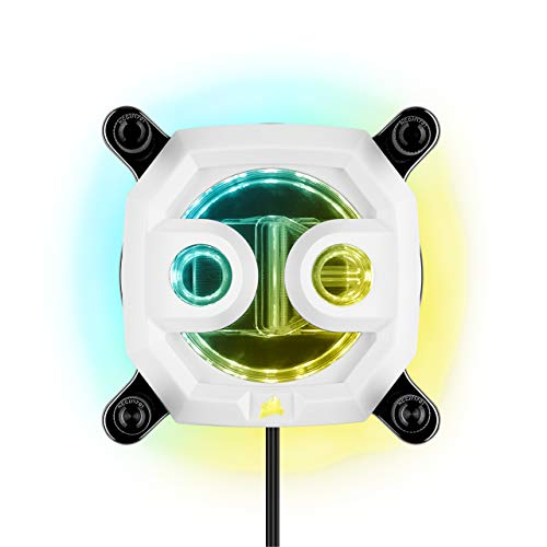 CORSAIR Hydro X Series XC7 RGB CPU-Wasserkühler (1200/AM4) – Weiß
