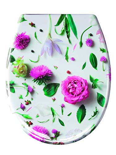 Kleine Wolke Rosalie WC-Sitz, Duroplast, Multicolor, Maße ca. 37x 45 cm