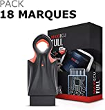 MaxiECU 2 - Pack 18/19 Marques - Valise Diagnostic Auto Pro Multimarques OBD2 - Diagnostic Tous Systèmes/Entretiens & Vidanges/Codage Injecteurs/Régénération FAP (Pack 18 Marques [sans B.M.W])