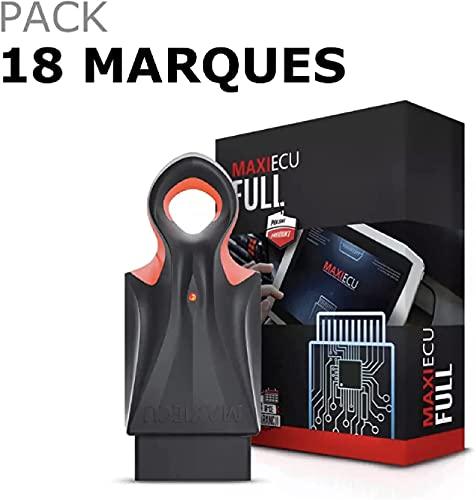 MaxiECU 2 - Pack 18/19 Marques - Valise Diagnostic Auto Pro Multimarques OBD2 - Diagnostic Tous Systèmes/Entretiens & Vidanges/Codage Injecteurs/Régénération FAP (Pack 18 Marques [avec BMW])