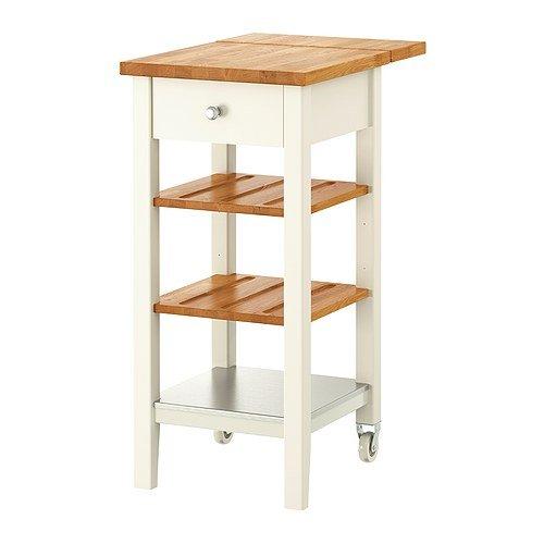 IKEA STENSTORP Küchenrollwagen, weiß, Eiche