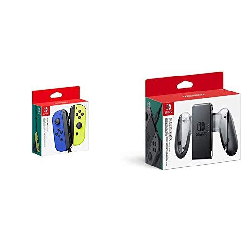 Nintendo Joy-Con 2er-Set, blau/neon-gelb & Nintendo Switch Joy-Con-Aufladehalterung