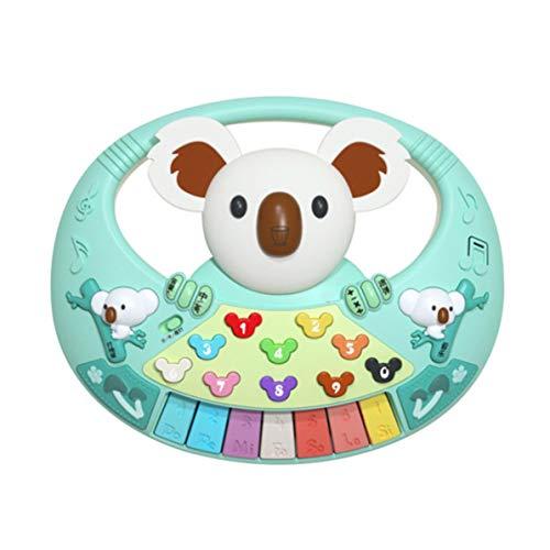 Dswe Piano Musical Koala con luz Nocturna Colorida Juguete Educativo para niños Mejora la coordinación de Ojos y Mano de los niños
